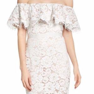 Eliza J White Long Lace Dress SZ 8